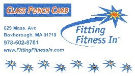 Class Card | Fitting Fitness In