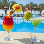 Cocktails by Pool