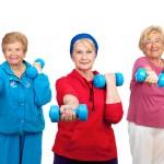 Senior ladies strength training