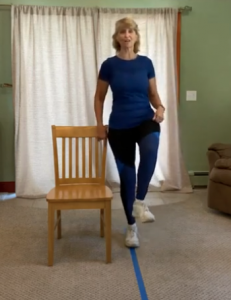 Screen capture from Holly's Brains and Balance virtual program