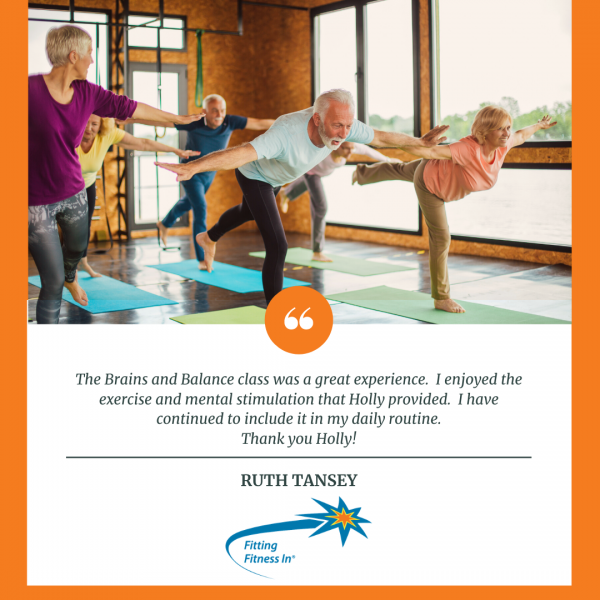 Testimonial from Ruth Tansey