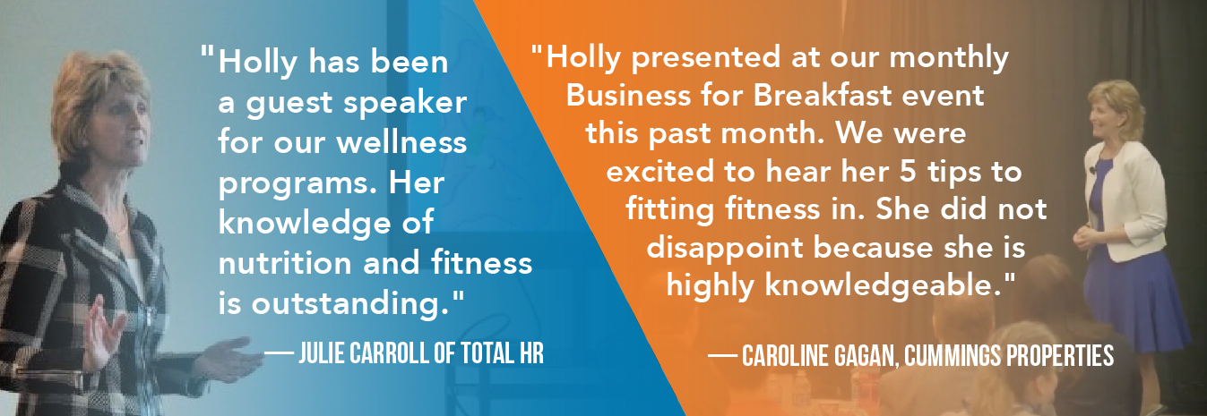 Testimonials from clients talking about Holly Kouvo from Fitting Fitness In