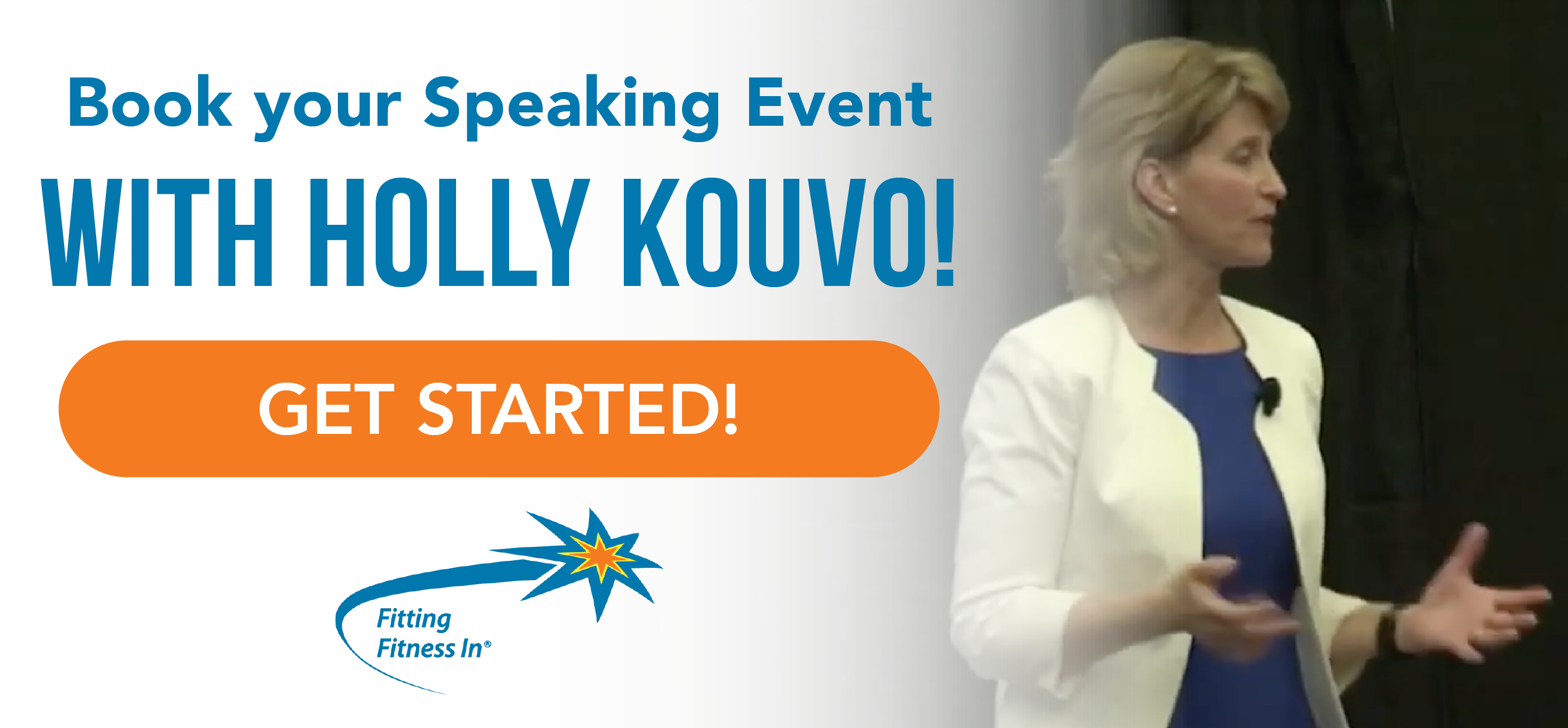 Book your Speaking Event with Holly Kouvo!