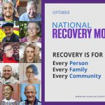 National Recovery Month 2021, a picture collage showing a variety of people